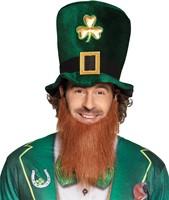 Hoge Hoed Leprechaun met Baard - St. Patricks Day-2