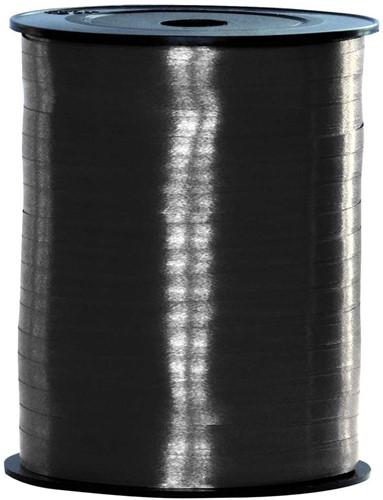 Cadeaulint Zwart 10mm Breed, 250m op Rol