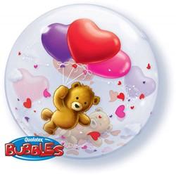 Bubble Ballon Beer met Hartjes (Love)