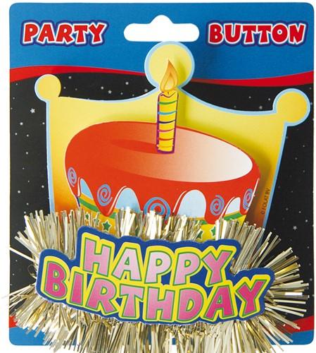 3D Button Happy Birthday