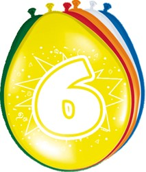 Ballonnen 6jaar 8st