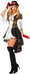Damesjurk Musketier Halflang met cape