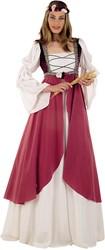 Damesjurk Middeleeuwse Jonkvrouw Roze