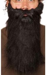Baard lang met snor Zwart