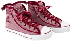 Dames Tiroler Trachten Sneaker Valentine Rood
