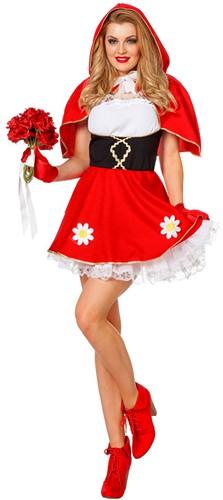Dameskostuum Sexy Roodkapje