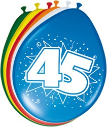 Ballonnen 45jaar 8st