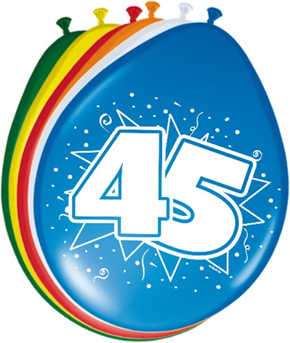 Ballonnen 45 jaar 8st