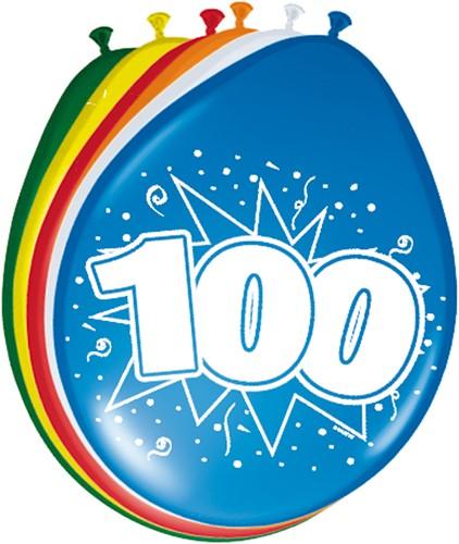Ballonnen 100 jaar 8st