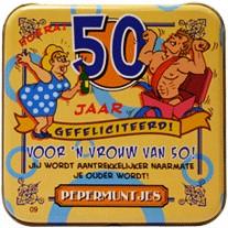 Pocket Tin 50 jaar Vrouw