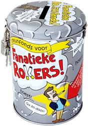 Spaarpot Fanatieke rokers! cartoon