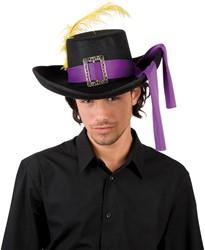 Musketiers hoed Purple