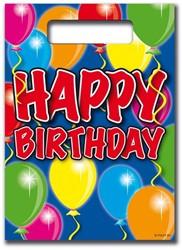 Feestzakjes Balloons Happy Birthday 8st.