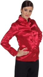 Damesblouse Satijn Rood