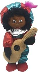 Decoratie Zwarte Piet Luxe met Gitaar (35cm)