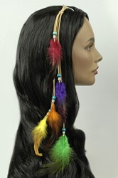 Feather Extention Leer