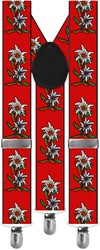 Bretels Edelweiss Rood