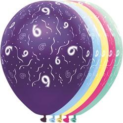 Ballonnen 6 jaar Metallic 5st