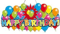 Deurbord Happy Birthday 3D 53x26cm