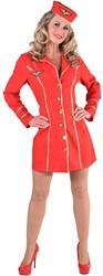 Stewardess Jurkje Rood voor dames