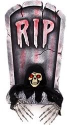 Grafsteen RIP met uithangend Skelet+LED (65cm)