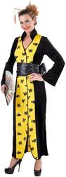 Chinese Kimono Zwart-Geel voor dames