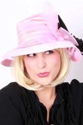 Dameshoed Organza Luxe Roze