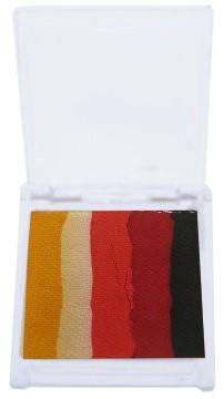 Splitcake Geel/Wit/Donker Oranje/Rood/Zwart