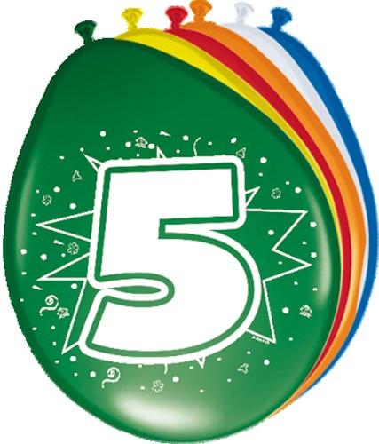 Ballonnen 5 jaar 8st