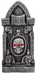 Grafsteen RIP met Skull +LED (90cm)