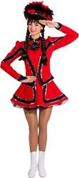 Dameskostuum Dansmarietje Rood-Zwart Luxe