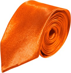 Stropdas Satijn Lang Oranje