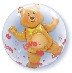 Bubble Ballon Teddybeer Love