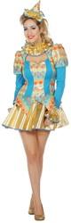 Dames Clownsjurkje Pierrette Luxe