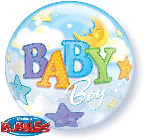 Bubble Ballon Baby Boy Moon Stars