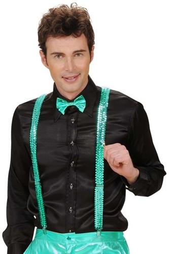 Bretels Pailletten Turquoise (nieuw)
