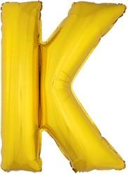 Folieballon Letter K Goud 100cm