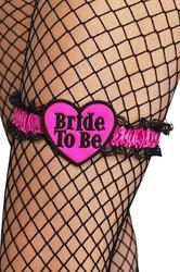Kousenband Bride to Be Zwart-Pink