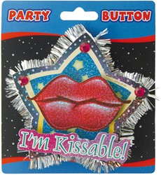 3D Button I'm Kissable