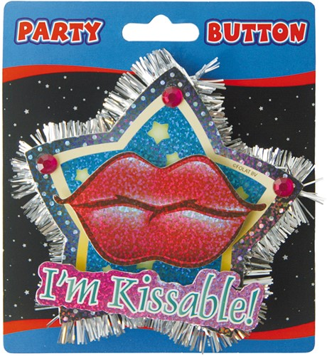 3D Button I'm Kissable