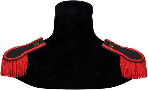 Epauletten Zwart-Rood (2 stuks)
