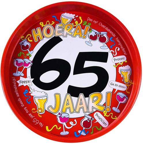 Dienblad Hoera! 65 jaar!