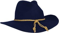 Hoed Generaal Blauw Luxe