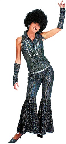Disco Jumpsuit Zwart