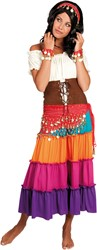 Buikdansset Zigeunerin Rood (4 delig)