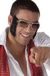 Bril Elvis (met bakkebaard)