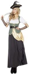 Dameskostuum Pirate Green Lang