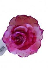 Bloemenbroche Glitter + Klem Pink