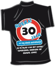 Mini-shirt 30 jaar