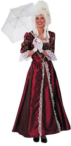Damesjurk Markiezin Taft Bordeaux
